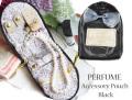170407アクセサリーポーチ ジュエリーポーチ レザー調 香水デザイン perfumeパフューム ブラック
