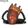 WOODLUM_BIGGIE FACE_木製ネックレス ウッドチェーン