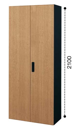 コクヨ KOKUYO エディア EDIA 両開き扉 下置き書庫 ベース必要 木目タイプ 本体色ブラック 扉色ラスティックミディアム/アッシュブラウン W800*D400*H2100 BWU-S88SF6DP2/BWU-S88SF6DG5