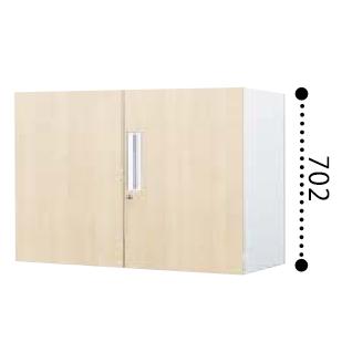 コクヨ KOKUYO エディア EDIA 両開き扉 下置き書庫 ベース必要 木目タイプ 本体色ホワイト 扉色ホワイトナチュラル W800*D400*H702 BWU-SD38SSAWD10