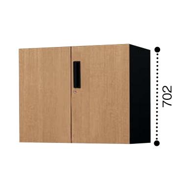 コクヨ KOKUYO エディア EDIA 両開き扉 下置き書庫 ベース必要 木目タイプ 本体色ブラック W800*D400*H702 BWU-SD38SF6DP2/BWU-SD38SF6DG5