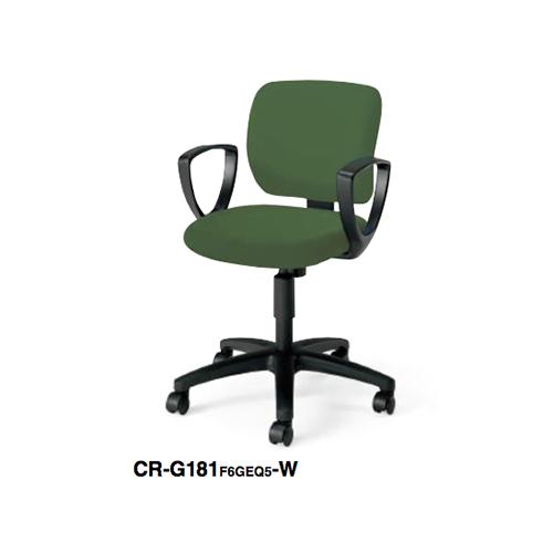 コクヨ KOKUYO オフィスチェア EAZA イーザチェア 背樹脂シェルタイプ サークル肘付きチェアー 背座同色 ナイロンキャスター/ゴム短輪キャスター CR-G181F6