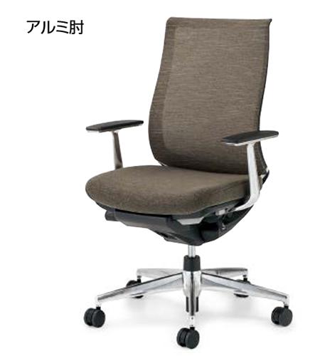 コクヨ KOKUYO オフィスチェア Bezel ベゼルチェア  テクスチャードメッシュ/モデレートタイプ アルミ肘 背座同色 CR-A2841E6