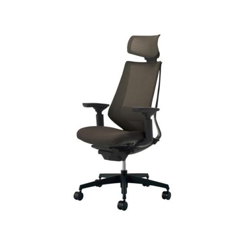 コクヨ KOKUYO オフィスチェア Duora デュオラチェア ヘッドレスト付き 可動肘 ランバーサポートなし 樹脂脚(ブラック) CR-G3015E1/CR-G3015E6