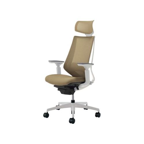 コクヨ KOKUYO オフィスチェア Duora デュオラチェア ヘッドレスト付き 可動肘 ランバーサポートなし 樹脂脚(ホワイト/クリーンテクトコーティング) CR-GW3015E1※-W