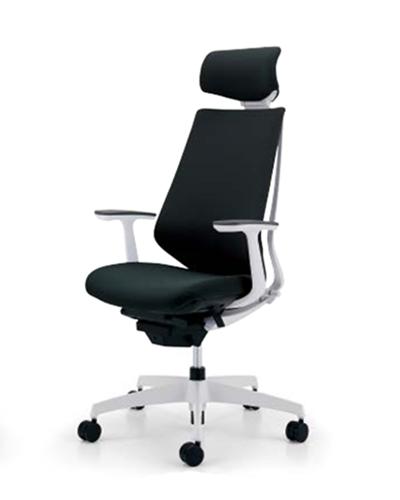 コクヨ KOKUYO オフィスチェア Duora デュオラチェア クッションタイプ 樹脂脚(ホワイト/クリーンテクトコーティング) ヘッドレスト付きタイプ T型肘 CR-GW3105E1※-W
