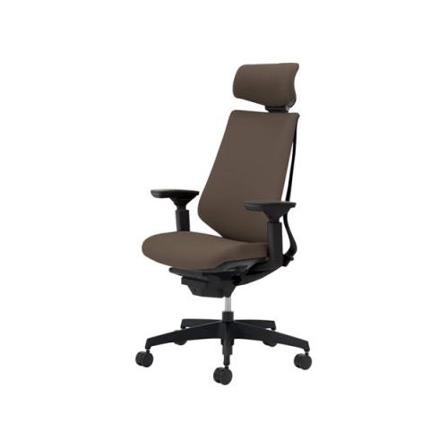 コクヨ KOKUYO オフィスチェア Duora デュオラチェア クッションタイプ 樹脂脚 ヘッドレスト付きタイプ 可動肘 CR-G3115E1/CR-G3115E6