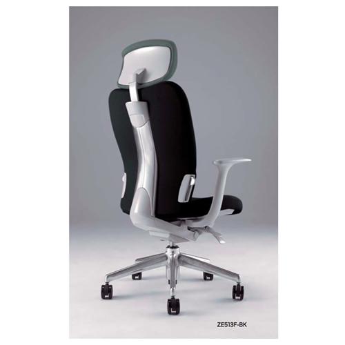 ナイキ NAIKI オフィスチェア ENEIR エネアチェア 布張り ミドルバック ヘッドレスト付 肘付 ZE513F