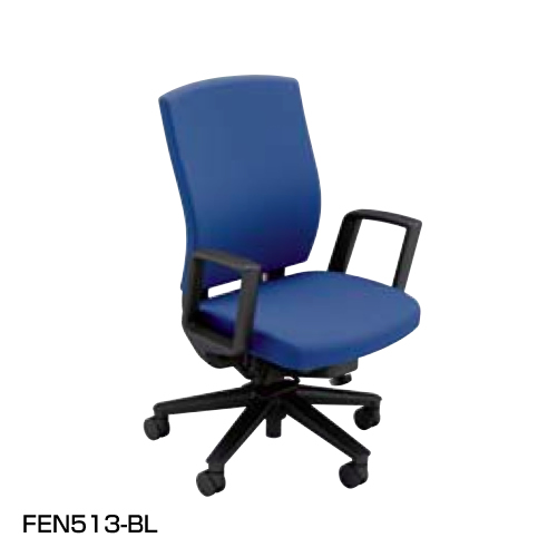 ナイキ NAIKI オフィスチェア FECT フェクトチェア ハイバック ビニールレザー張り リング肘付 FEN513-BL/FEN513-BK