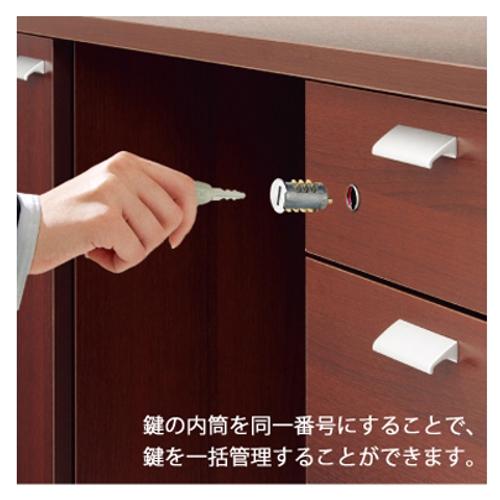 CE両袖机 鍵&内筒セット
