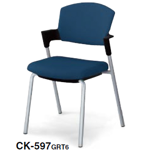 コクヨ KOKUYO プロッティチェア ミーティングチェア 固定脚タイプ 総張り 布 背座同色 肘付チェア CK-597