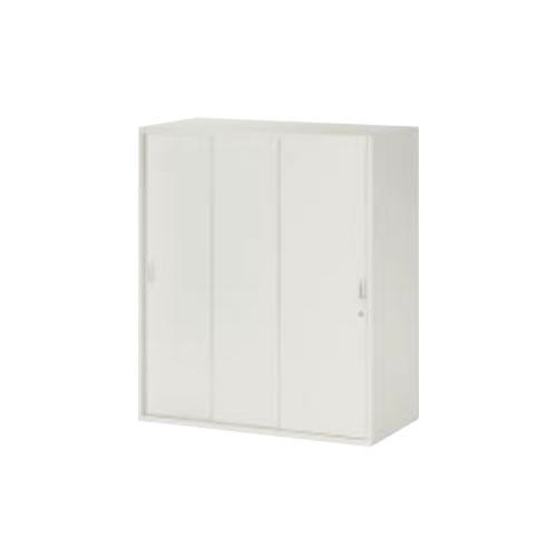 コクヨ KOKUYO EK SERIES EK保管庫 上/下置き共用 (下置きの場合ベース必要) 3枚引き違い戸 W900×D450×H1050 SA-H359F1