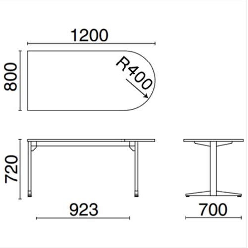 ステージオテーブル サイズ