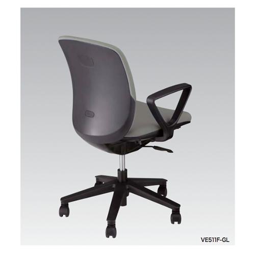 ナイキ NAIKI オフィスチェア VIALE ヴィアーレチェア ミドルバック 布張り ループ肘付 VE511F
