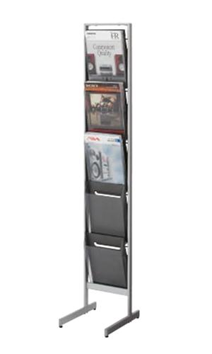 コクヨ KOKUYO パンフレットスタンド パンフレットラック A4サイズトレータイプ 片面 厚型 A4判用・1列5段 ZR-PS311