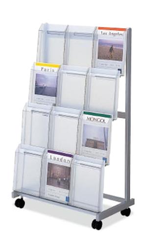 コクヨ KOKUYO パンフレットスタンド パンフレットラック A4サイズ トレータイプ 片面 3列4段 ロータイプ ZR-PS63NN