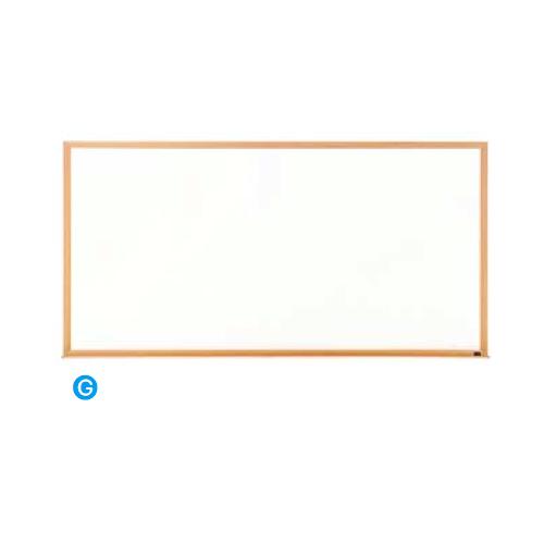 内田洋行 ウチダ UCHIDA 木目フレームボード 3×6型 ホワイトボード 1808×88×911 6-190-2506 ▽