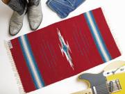 オルテガ 841530-136 手織りチマヨ・ブランケット 38x76cm カーディナルレッド