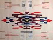 ビンテージ・チマヨ・ブランケット 1950年代 VCB-002 120x208cm ナチュラルホワイト ※動画あり