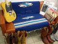 【限定色】 オルテガ 手織りチマヨ・ブランケット 843060-009 75x150cm ネイビーブルー