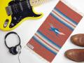 【限定デザイン】オルテガ 841020-146 手織りチマヨ・ブランケット 25x50cm ブランディー 『ロードランナー』デザイン