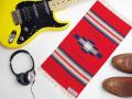 オルテガ 841020-150 手織りチマヨ・ブランケット 25x50cm スカーレットレッド