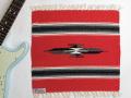 オルテガ 841515-098 手織りチマヨブランケット 38x38cm スカーレットレッド