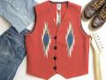 オルテガ 手織りチマヨベスト 83RG-40293 サイズ40 テラコッタ(ラスト)