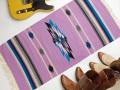 Ganscraft デッドストック・チマヨ・ブランケット GB2040-031 50x100cm ラベンダー