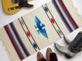 Ganscraft デッドストック・チマヨ・ブランケット GB2040-033 50x100cm ホワイト サンダーバード・デザイン