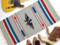 Ganscraft デッドストック・チマヨ・ブランケット GB2040-036 50x100cm ライト・オックスフォード・ヘザー サンダーバード・デザイン
