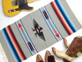 Ganscraft デッドストック・チマヨ・ブランケット GB2040-037 50x100cm ライト・オックスフォード・ヘザー サンダーバード・デザイン