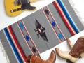 Ganscraft デッドストック・チマヨ・ブランケット GB2040-038 50x100cm ミディアム・オックスフォード・ヘザー サンダーバード・デザイン