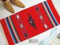 Ganscraft デッドストック・チマヨ・ブランケット GB2040-007 50x100cm スカーレットレッド サンダーバード・デザイン