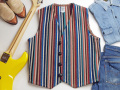 【限定ファブリック】オルテガ 手織りチマヨベスト 83DXRG-4034 サイズ40 エクストラ・マルチストライプ