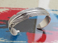 ナバホ 02-0451 ジョー・メイス作 イーグルフェザー・ブレスレット 16mm幅