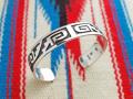 ホピ 22-0247 グリセルダ・スフキー(Griselda Saufkie)作 ウォーターシンボル オーバーレイ・ブレスレット