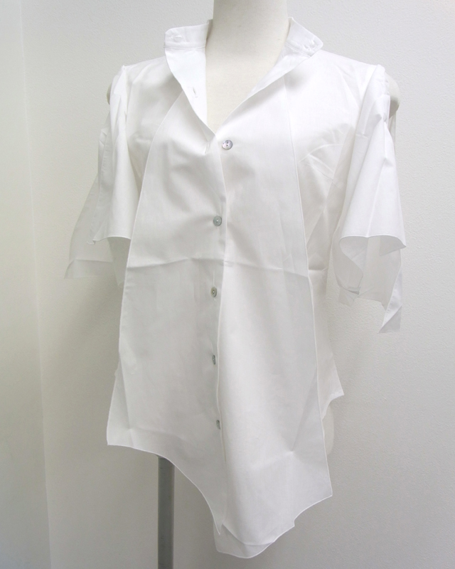 17SS BALOSSA BA0091 AIFA 半袖デザインシャツ(ホワイト)