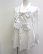 17SS BALOSSA BA0070 VERONE リボンシャツ 【WHITE】