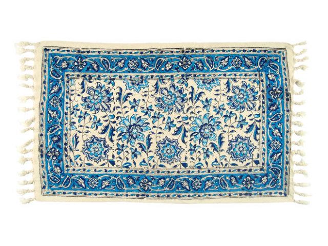 サラサ 約53×33cm ブルー sa053033001