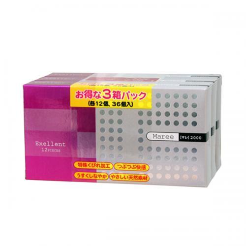 【コンドーム】マレ2000 12P×3箱(36個入)