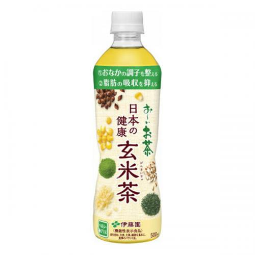 PET 日本の健康玄米茶 500ml 24本入り×1ケース(伊藤園)【クレジット決済のみ】