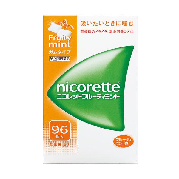 【指定第2類医薬品】 ニコレットフルーティミント(96個入)