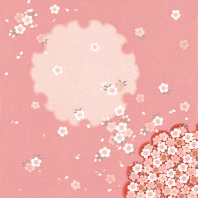 丹後ちりめん友仙ふろしき 約68cm/桜ぼかし/ピンク/