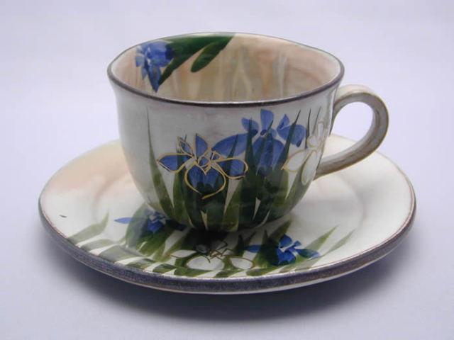 俊山窯 森俊山 菖蒲コーヒー碗皿