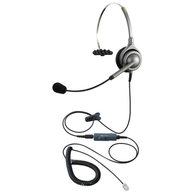 エンタープライズ製 IPヘッドセットパック片耳タイプ VMC3接続コード(ボリューム/ミュートスイッチ付)