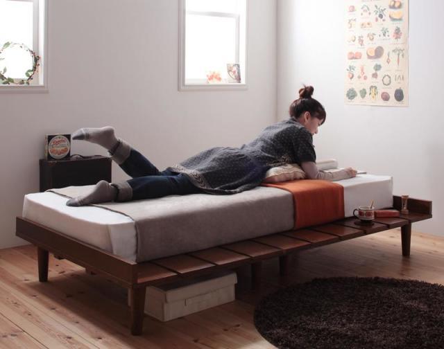 北欧デザインすのこベッド【Niels】ニエル【フレームのみ】セミシングル