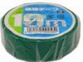 【オーム電機/OHM】DE1910G  ビニールテープ  0.2mm19mm×10m  緑色 1巻