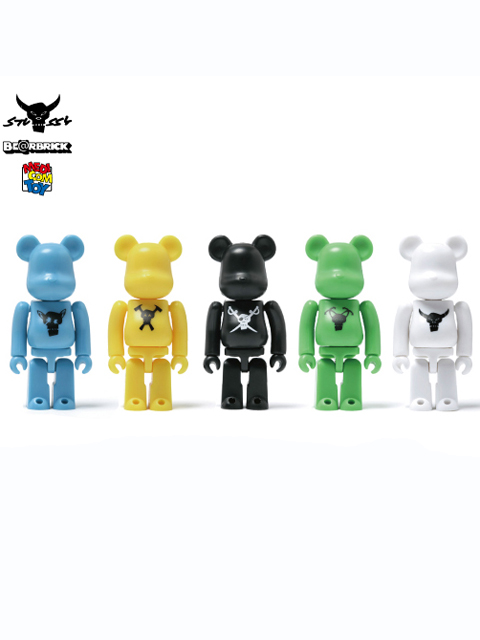 Stussy x MEDICOM TOY Destiny BE@RBRICK 100% 5種