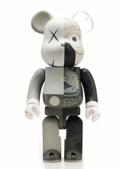 BE@RBRICK OF COMPANION GREY Ver. 100%